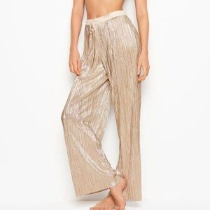 Victoria's Secret Shine Pleat Pant in Gold